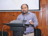 Mr. Rajiv Jha, Technical Consultant, Assam State Commission for Protection of Child Rights delivering his speech