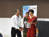 Prof. Polly Vauquline, Associate Professor, Women Studies, Gauhati University  felicitated by Ex Vice Chancellor of Bodoland University, Prof Hemanta Kumar Baruah