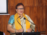 Dr Sunita Changkakati, Chairperson Assam State Commission for Protection of Child Rights delivering her speech