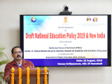 "Gauhati University, Registrar, Prof. Nani Gopal Mahanta delivering his speech on the topic ""New Education Policy and its Implementation"""