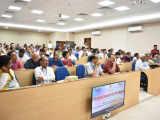 "Participants of the one-day symposium on ""Draft National Education Policy 2019 & New India"" held at Center for Educational Technology, IIT Guwahati."