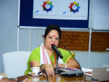 """Dr. Sangeeta Gogoi, HOD History, Mangaldoi College delivering his speech on """"Ethnic Connect with South East Asia"""""""