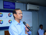 """Dr. Sanjay kumar, Director, CSDS delivering his speech on """"Is Social Science Research Useful? """""""