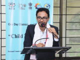 Mr. Sudeep Chakravorty, Consultant NCPCR during concluding the Workshop