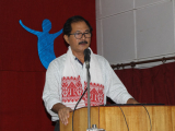 Dr. Rajeev Doley, Head of the Department of Humanities, Tezpur University delivering his speech