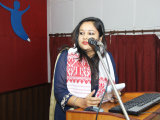 Ms .Antara Sen, ADC , Sonitpur delivering her speech